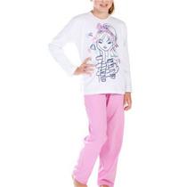 Kit C/10 Pijama Longo Infantil Menina Malha Conforto