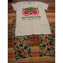 Pijama Mae Assumida Calça Florida Tam. M