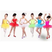 Roupa Ballet Balé Bailarina Fantasia Collant + Tutu