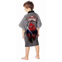 Roupão Infantil Aveludado Homem Aranha Spider Man Lepper