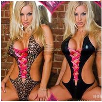 Lingerie Sexy - Leopardo-fantasia Fetiche Baby Dolls