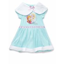Camisola Com Estola Anna Elsa Frozen Disney 3/4 Anos