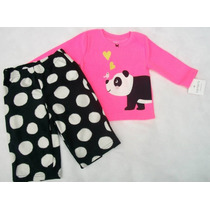 Pijama 2 Peças Fleece Carter´s Panda Tam 12 Meses Ou 4 Anos
