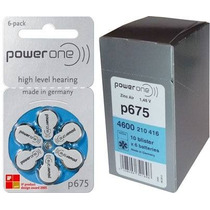 60 Pilhas Para Aparelhos Auditivos Power One 675