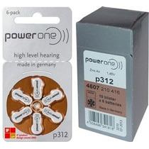 60 Pilhas Para Aparelhos Auditivos Power One 312