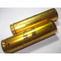 Bateria 18650 Li-ion Hy Taue 5800mh 3.7v Lanterna Tática Led
