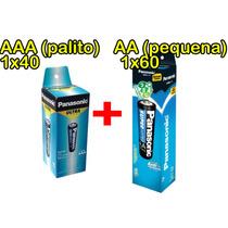 Pilha Aa + Aaa Panasonic Super Hyper - 1 Tubo De Cada