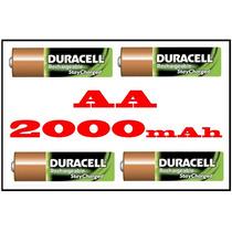 Pilha Recarregável 2000mah Duracell Aa 1.2v 4und Original