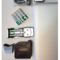 Kit 4 Pilhas Recarregáveis, Carregador Bty Usb, Testador 113