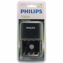 Carregador Pilha Philips Scb-1411nb/12 Aa/aaa