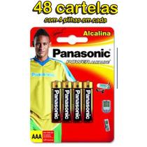 Pilha Aaa Palito Power Alcalina Panasonic 48 Cartelas
