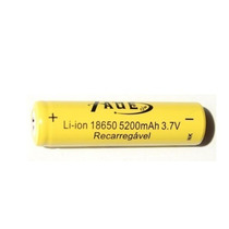 Bateria 18650 3,7v 5200mah Lanterna Tatica Recarregavel
