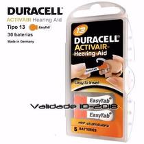 Bateria Auditiva Duracell Pr13 - Cartela Com 6 Baterias