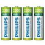 Pilha/bateria Philips Aa Recarregável 2300mah Ni-mh-original