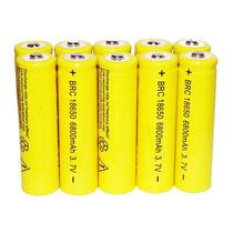 Kit 10 Baterias Mod 18650 - 3.7v Recarregável De 6800mah