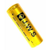 Bateria 26650 Recarregável Blindada 3.7 Para Lanterna Tatica
