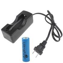 Carregador + Bateria De Lítio Íon 2400mah 3.7v Recarregável