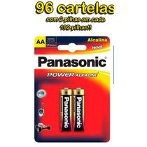 Pilha Aa Panasonic (pequena) Power Alcalina - 96 Cartelas