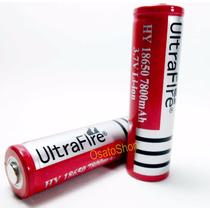 2 Baterias 18650 7800mah 3.7v Recarregavel. Envio Em 24hrs