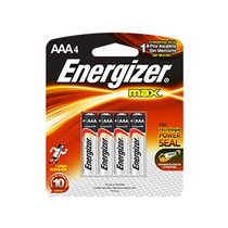 Pilha Energizer Max Aaa4 Alcalina Caixa C/ 10 Unid 40 Pilhas
