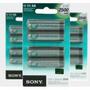 3 Cartelas Pilha Recarregavel Sony Aa 2500 Mah 4 -original