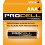 Pilha Alcalina Duracell Procell Aaa / 4 Pilhas Longa Duração