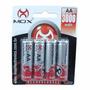 Pacote Com 4 Pilhas Mox Mo-aa3000b4 Recarregavel A5103