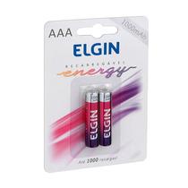 Pilhas Recarregáveis Aaa - 2 Pilhas Elgin