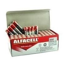 Pilha Aa Alfacell Caixa Com 60 Unid, Palito Fina Envio 24h