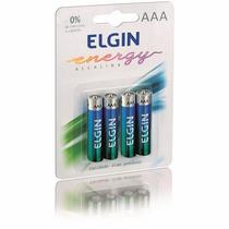 Pilhas Aaa Alcalinas Energy Blister C/4 Lr3 1,5v - Elgin
