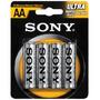 Pilha Zinco Carvão Sony Pequena Aa Com 4 Peças Sum3nu-b4