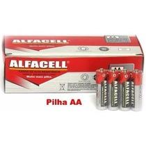 Pilha Aa Comum Alfacell Caixa Com 60 Unidades, Palito Fina