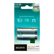 Pilha Recarregavel Sony Aa 2500 Mah Com 2 Unidades-original