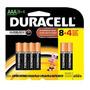 Duracell Duralock Pilha Alcalina - Aaa Leve 12 Pague 8