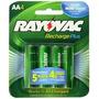 Pilha Aaa Recharge Plus Rayovac 1.2v 900mah Pl724-4 Genb