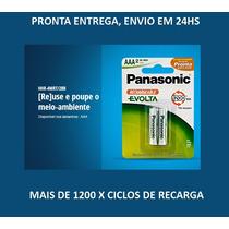 Pilha Recarregavel Panasonic Aaa Palito Evolta Top De Linha