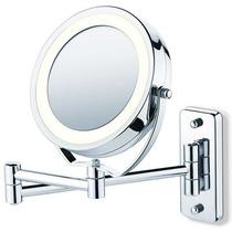 Espelho De Aumento Com Luz De Parede Ou Bancada Jm315