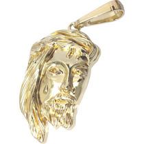 Pingente Masculino Face Rosto Jesus Cristo Folheado A Ouro
