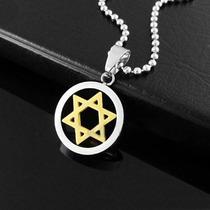 Colar Estrela De Davi,aço Inoxidável + Corrente