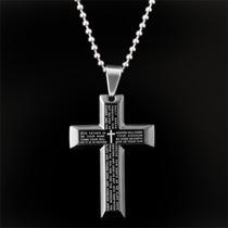Corrente + Pingente Masculino Crucifixo Em Aço Inox