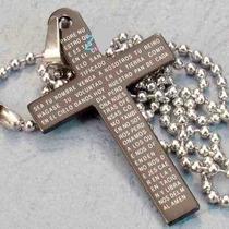 Pingente Crucifixo Com Oração Pai Nosso