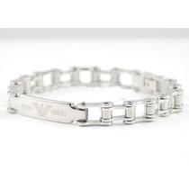 Pulseira Bracelete Masculina Feminina Emporio Armani Aço