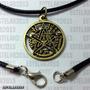 Pingente Tetragramaton Cordão Pentagrama Salomão Wicca