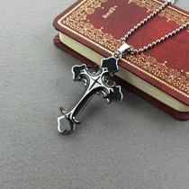 Pingente Cruz,crucifixo Aço Inoxidável Esmaltado+corrente
