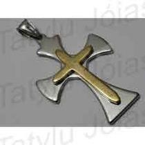 Pingente P/corrente,colar Crucifixo C/oração Pai Nosso