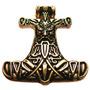 Mjolnir Odin-hammer Banhado A Ouro 24 Quilates