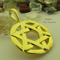 Pingente Estrela De Davi Banho Ouro 18k