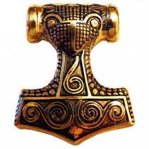 Mjolnir 1 Banhado A Ouro 24 Quilates