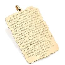 Pingente Rommanel 541636 3,5cm Folh Ouro Artigo Religioso