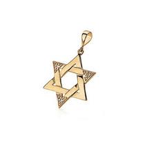 Pingente Folheado Ouro Estrela De Salomão Zircônias Rommanel